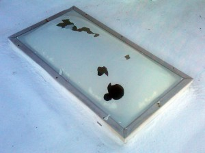 Defend skylights from hail damage