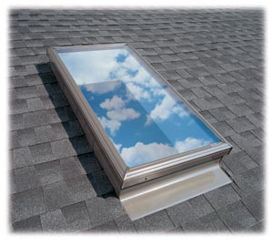 Aprender a substituir a janela de vidro sobre uma clarabóia