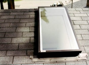Repair a leak in the skylight