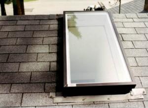 Reparieren eines lecks in der dachluke