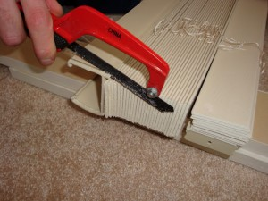 Learn to cut down Levolor window blinds