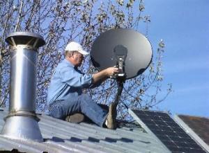 Asentaminen satelliittiantenni