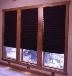 Blackout window blinds to darken rooms