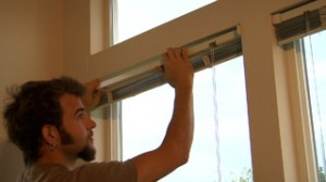 Learn to install window blinds